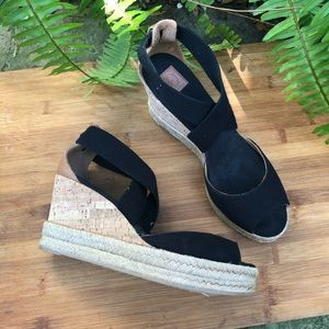 Tory Burch Adonis Espadrilles Wedge Sandals 8